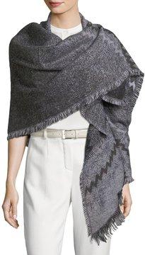 Neiman Marcus Zigzag Knit Wrap