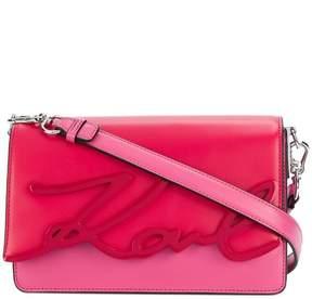 Karl Lagerfeld K/Signature Glaze shoulder bag