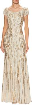 Jenny Packham Women's Silk Embellished Gown