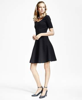Brooks Brothers Ponte Knit Fit-and-Flare Dress