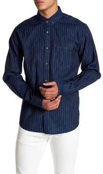 Jeremiah Kip Indigo Stripe Print Shirt