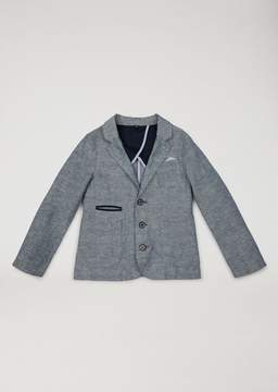 Armani Junior Linen And Cotton Jacket