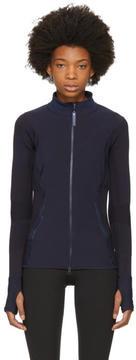 adidas by Stella McCartney Navy Knit Zip-Up Jacket