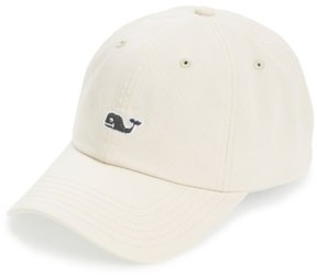 Vineyard Vines Men's Whale Logo Cap - Beige