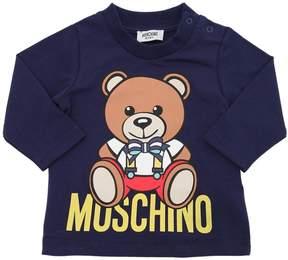 Moschino Bear Printed Cotton Jersey T-Shirt