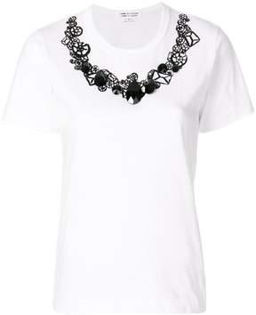 Comme des Garcons embellished print T-shirt