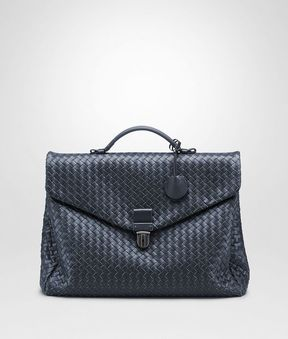 Bottega Veneta Light Tourmaline Intrecciato Small Briefcase