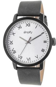 Simplify The 4200 Collection SIM4205 Gunmetal Stainless Steel Analog Watch