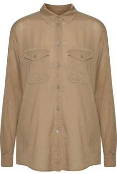 Belstaff Textured Cotton And Silk-Blend Shirt