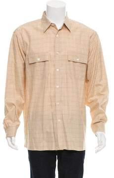 Ralph Lauren Purple Label Glen Plaid Button-Up Shirt