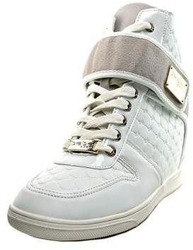 Bebe Sport Colby Women Leather White Fashion Sneakers.