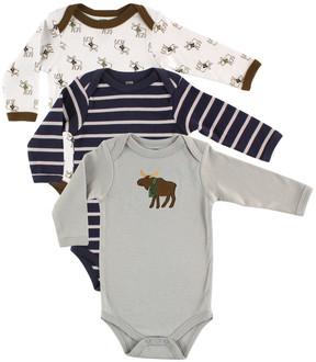 Hudson Baby Gray Moose Bodysuit Set - Infant