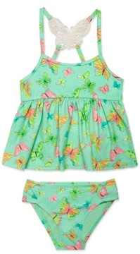 Hula Star Toddler Girl's 'Butterfly' Two-Piece Tankini Swimsuit