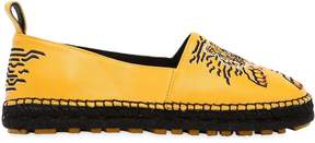 Kenzo 20mm Geo Tiger Leather Espadrilles