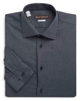Hickey Freeman Diamond Cotton Dress Shirt