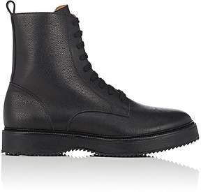 Barneys New York Men's Grained Leather Side-Zip Boots