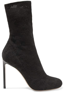 Francesco Russo Open-knit Sock Boots - Black