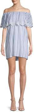 Pilyq Women's Striped Cotton Mini Dress