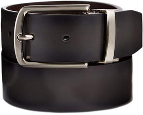 Perry Ellis Men's Portfolio Leather Burnished Gray Reversible Belt
