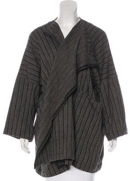 eskandar Wool Striped Cardigan