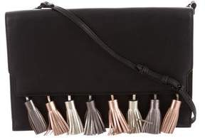 Rebecca Minkoff Leather Sofia Clutch - BLACK - STYLE