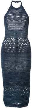 Balmain knitted halter dress
