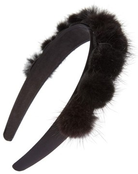Tasha Genuine Mink Pom Headband