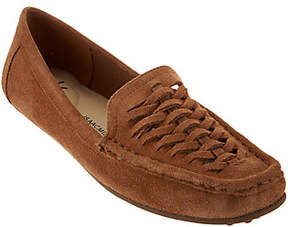 Isaac Mizrahi Live! Leather or Suede FishermanMoccasins