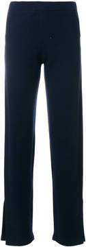 Allude side slit knitted trousers