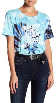 Eleven Paris ELEVENPARIS Girls Can Do Anything Tie Dye Tee