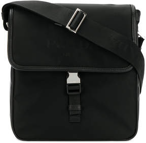 Prada logo plaque shoulder bag