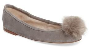 Sam Edelman Women's Farina Flat With Faux Fur Pompom