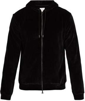 Derek Rose Nico hooded cotton-blend velour top