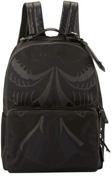 Valentino Hawk Nylon & Leather Backpack