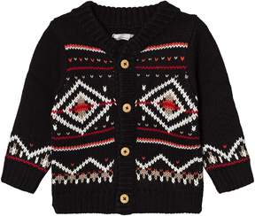 Catimini Black Fairisle Knit Cardigan