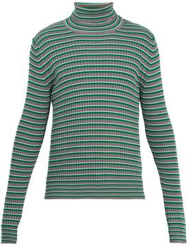 Maison Margiela Striped roll-neck cotton sweater