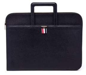 Thom Browne Pebble Grain Leather Handle Portfolio