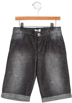 Moschino Boys' Denim Logo Embroidered Shorts w/ Tags