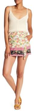 Angie Printed Wrap Shorts