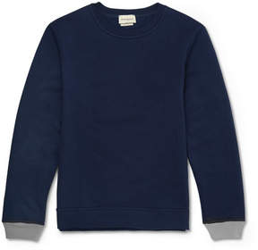 Oliver Spencer Loungewear Fleece-Back Cotton And Cashmere-Blend Jersey Sweatshirt