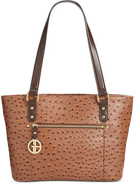 Giani Bernini Ostrich-Embossed Tote, Created for Macy's