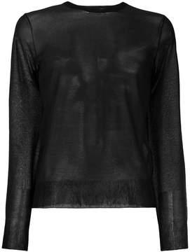 Bottega Veneta nero silk sweater