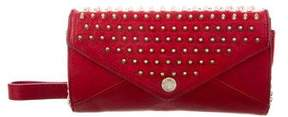 Rebecca Minkoff Spiked Wallet On Chain - RED - STYLE
