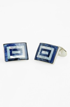 David Donahue Men's Sodalite & Mother Of Pearl Cuff Links