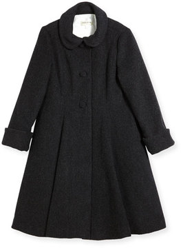 Helena Wool Topper Coat, Gray, Size 7-14