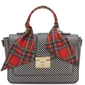 Betsey Johnson Wrapped Up In You Dotted Top-Handle Satchel