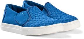 Toms Royal Blue Basket Weave Shoes