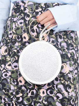Sara Battaglia Swarovski circle clutch