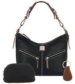 Dooney & Bourke As Is Dooney& Bourke All Weather Leather Hobo Bag