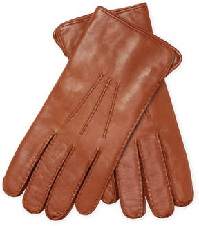 Portolano Men's Nappa Leather Ruching Gloves